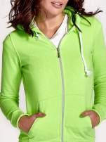 Zielona gładka bluza z kapturem                                  zdj.                                  6