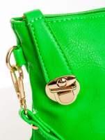 Zielona kopertówka z dżetami motyw apple                                  zdj.                                  5