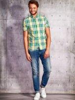Zielona koszula męska w kratę Funk n Soul                                                                          zdj.                                                                         3