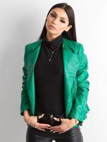 Zielona kurtka ze skóry ekologicznej                                  zdj.                                  1