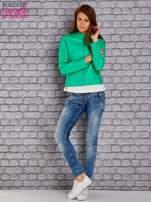 Zielona skórzana kurtka o klasycznym kroju                                  zdj.                                  5