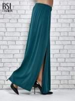 Zielona spódnica maxi z rozporkami z przodu                                  zdj.                                  3