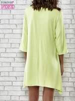 Zielona sukienka damska z nadrukiem kotów                                  zdj.                                  4
