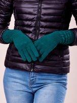 Zielone długie rękawiczki z drapowanym rękawem                                  zdj.                                  3