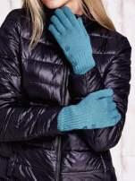 Zielone rękawiczki z guzikami