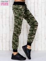Zielone spodnie dresowe moro ze ściągaczem                                  zdj.                                  3