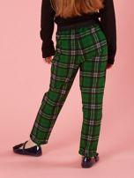 Zielone spodnie dziewczęce w kratę                                  zdj.                                  2