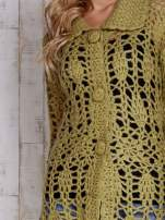 Beżowy długi sweter na guziki                                                                          zdj.                                                                         7