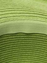 Zielony kapelusz słomiany z dużym rondem i kryształkami                                  zdj.                                  5