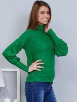 Zielony sweter z szerokimi rękawami                                  zdj.                                  5