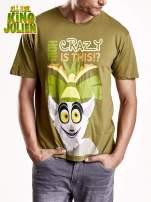 Zielony t-shirt chłopiecy KRÓL JULIAN                                                                          zdj.                                                                         3