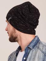 Zimowa czapka męska beanie czarna                                  zdj.                                  3