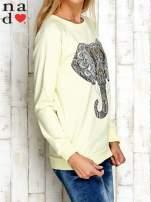Żółta bluza z nadrukiem słonia