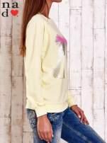 Żółta bluza z nadrukiem szpilek                                  zdj.                                  3