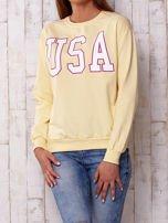 Żółta bluza z napisem USA                                  zdj.                                  1