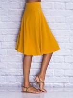 Żółta rozkloszowana spódnica midi                                  zdj.                                  3