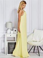 Żółta sukienka maxi z wiązaniem na szyi                                  zdj.                                  5