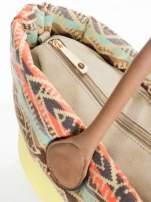Żólta torba gumowa z motywem azteckim                                  zdj.                                  5