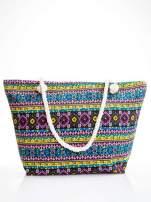 Żółta torba plażowa w azteckie wzory