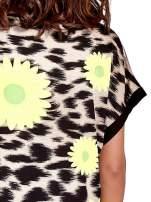 Żółta tunika z nadrukiem kwiatowym i cętkami                                   zdj.                                  5