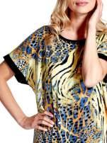Żółta tunika z tygrysim nadrukiem                                  zdj.                                  5