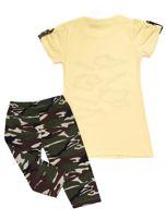 Żółto-khaki komplet dla dziewczynki                                  zdj.                                  2