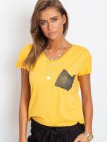 Żółty t-shirt Shelly                                  zdj.                                  1