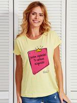 Żółty t-shirt damski JESTEM ZAJEBISTA! by Markus P                                  zdj.                                  1